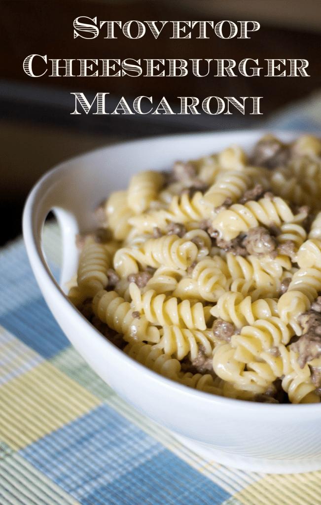 Stovetop Cheeseburger Macaroni - Carrie's Experimental Kitchen #pasta