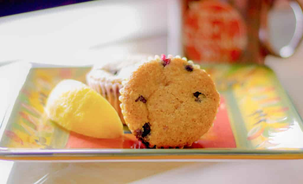 Almond Blueberry Lemon Muffins