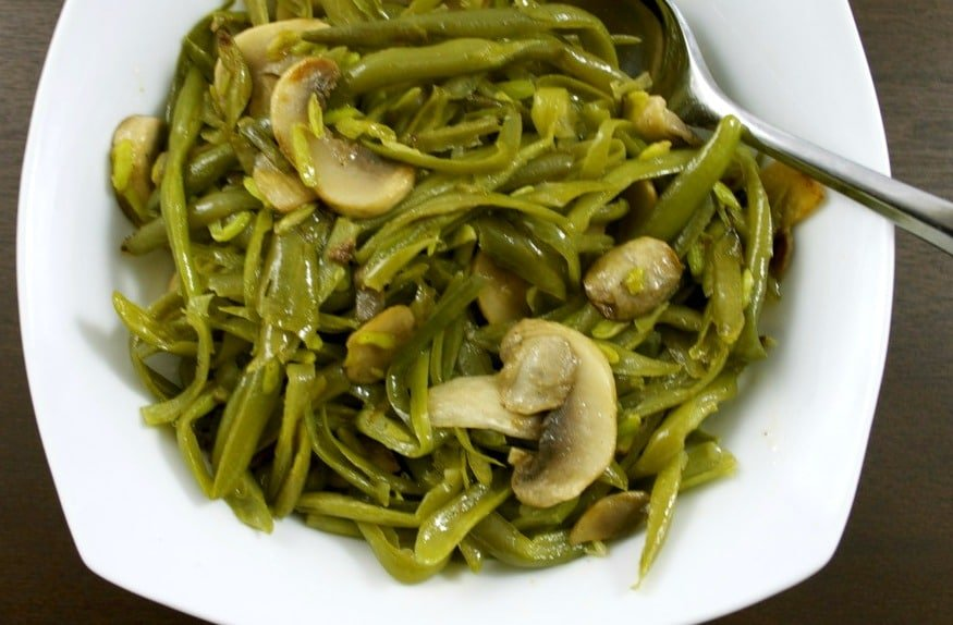 French Green Beans with Mushrooms