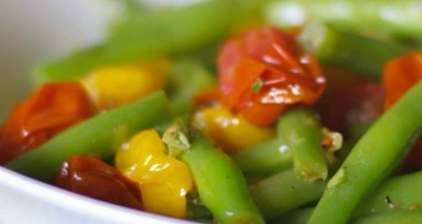 Roasted Grape Tomato and Green Bean Salad