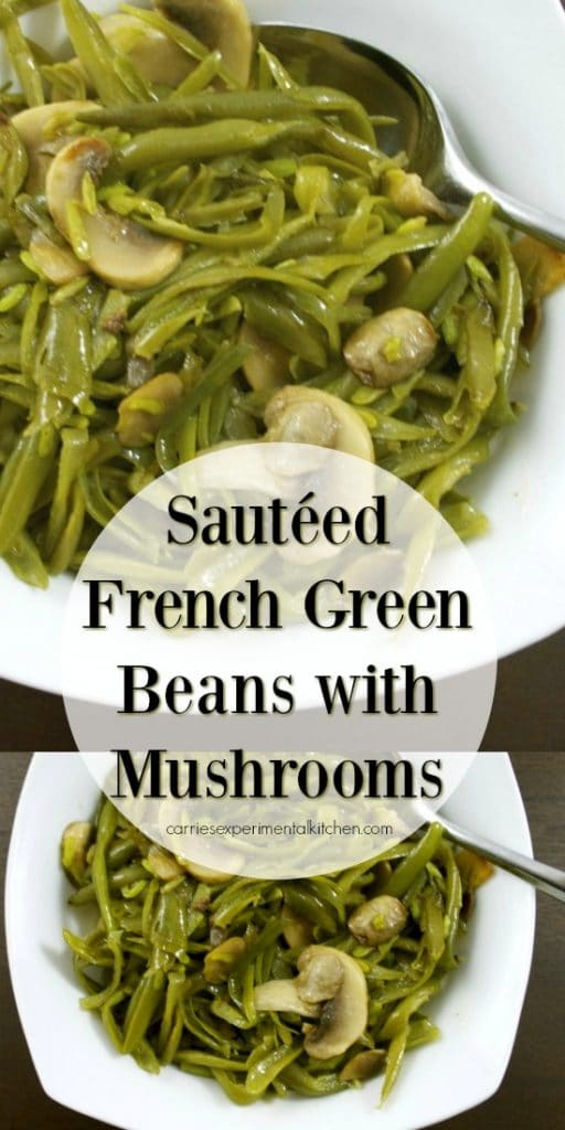French green beans sautéed with fresh mushrooms, butter and garlic powder is a quick and easy vegetable side dish that tastes great accompanying any meal.