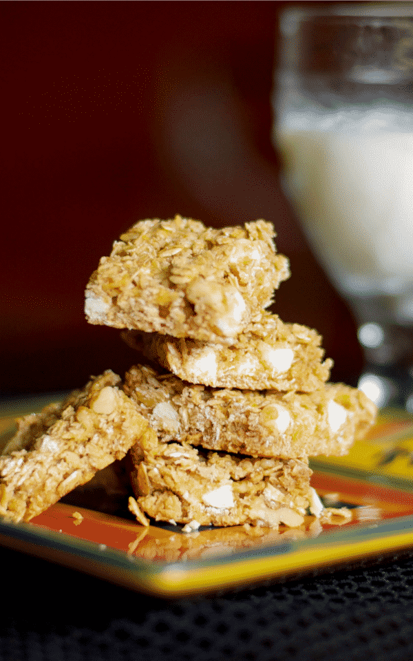 White Chocolate Apple Walnut Granola Bars