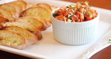 Guest Blogger-Tomato Bruschetta on Crostini from Lisa's Dinnertime Dish