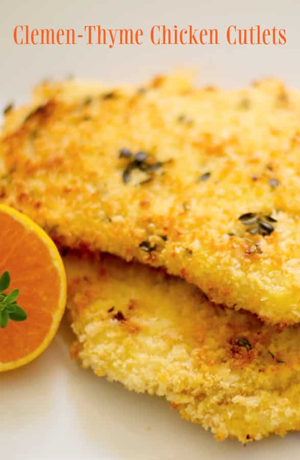 Clemen Thyme Baked Chicken Cutlets