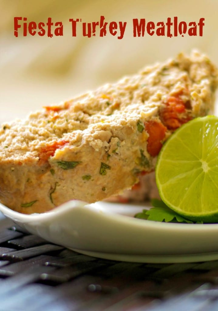 Make dinnertime fun with this Fiesta Turkey Meatloaf made with extra lean ground turkey, fresh tomatoes, garlic, cilantro and lime juice.