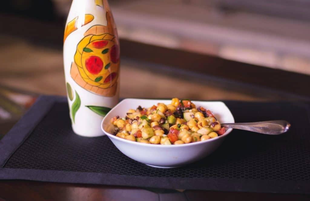 Mediterranean Chick Pea Salad Horizontal