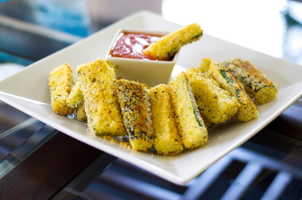 Baked Zucchini Wedges horizontal