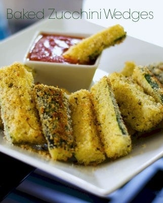 Baked Zucchini Wedges   Carrie's Experimental Kitchen #zucchini