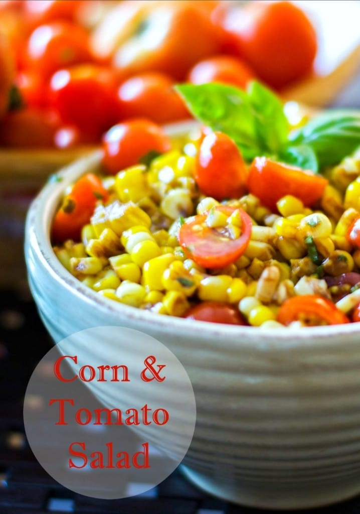 Corn & Tomato Salad | Carrie's Experimental Kitchen #salad The perfect use for leftover corn on the cob!