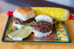 Greek Black Bean Sliders