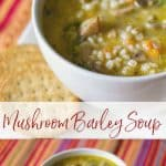 This vegetarian Mushroom Barley Soup made with white mushrooms, vegetables, and vegetable broth is so hearty, you can eat it as a meal.