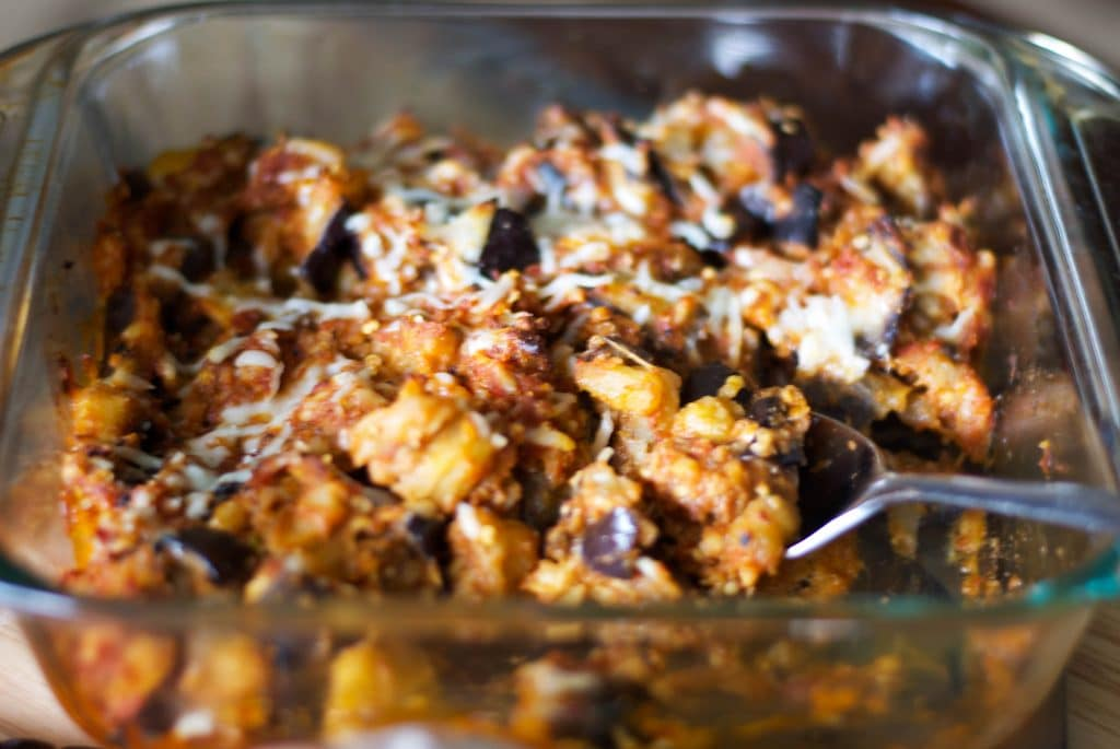 Deconstructed Roasted Eggplant Parm | Carrie's Experimental Kitchen