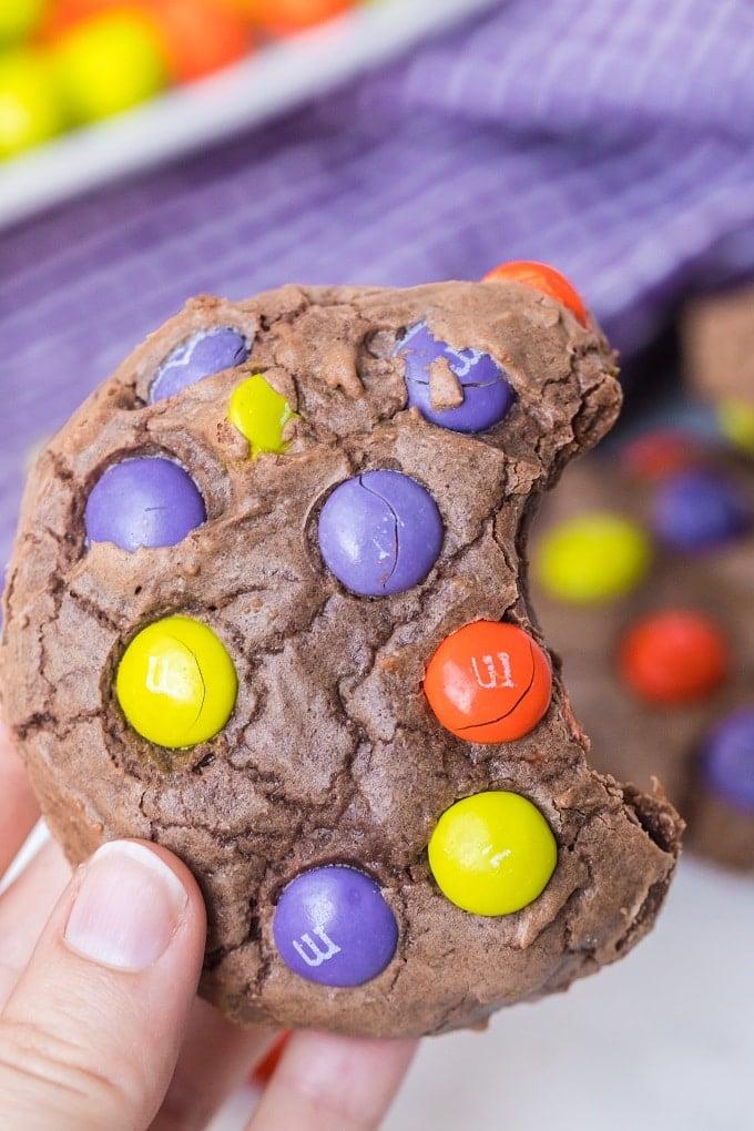 Halloween M&M Cookies