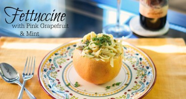 Fettuccine with Pink Grapefruit & Mint