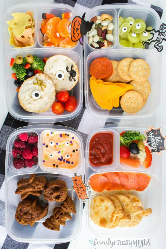 Halloween Lunchbox Ideas from Family Fresh Meals