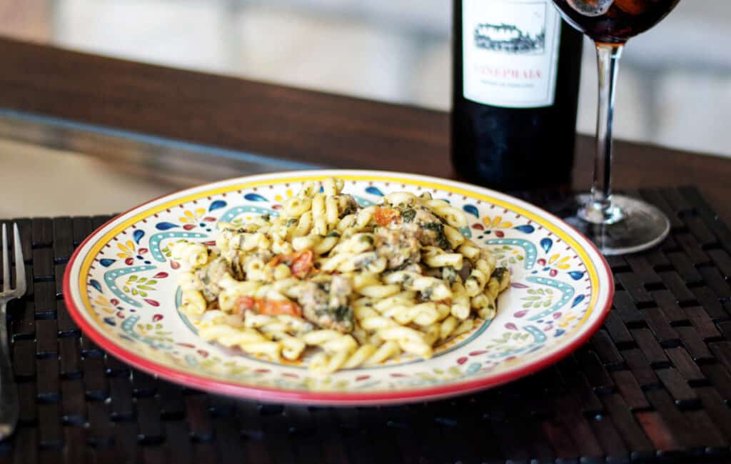 Gemelli with Sausage and Spinach