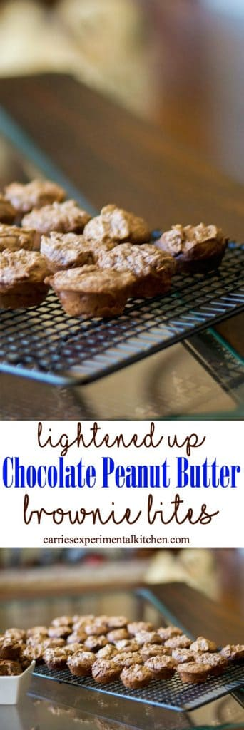 Treat yourself with theseLightened Up Chocolate Peanut Butter Brownie Bites. At only 75 calories each, I'll bet you can't eat just one!
