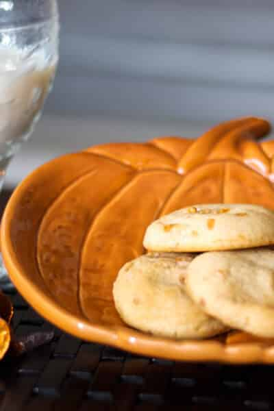 Pumpkin Spice Hershey's Kisses combined with my favorite soft and moist sugar cookie recipe. A tasty Fall treat the kids will love.