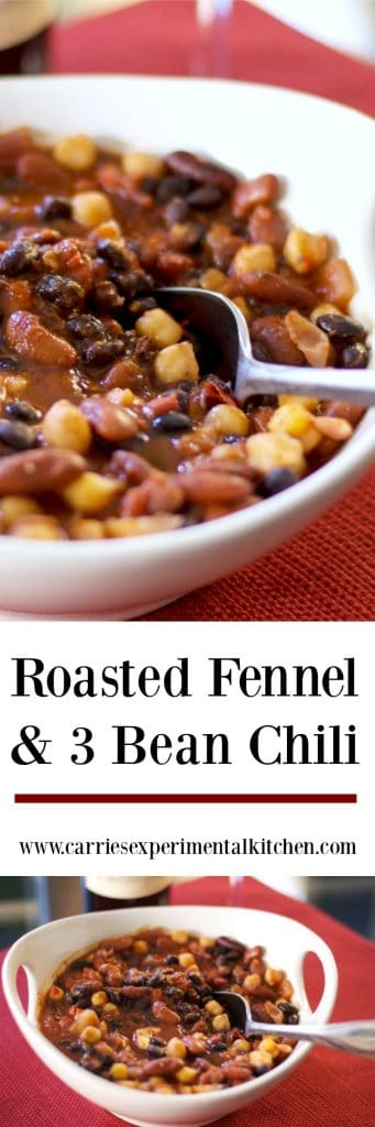 Roasted fennel combined with three types of beans in a tomato based sauce is filled with flavor. A tasty vegetarian option for lunch or dinner!