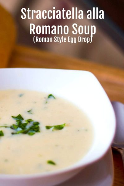 Stacciatella alla Romano or otherwise known as Roman Style Egg Drop Soup is an Italian soup consisting of a broth with a shredded eggs, cheese and spices.