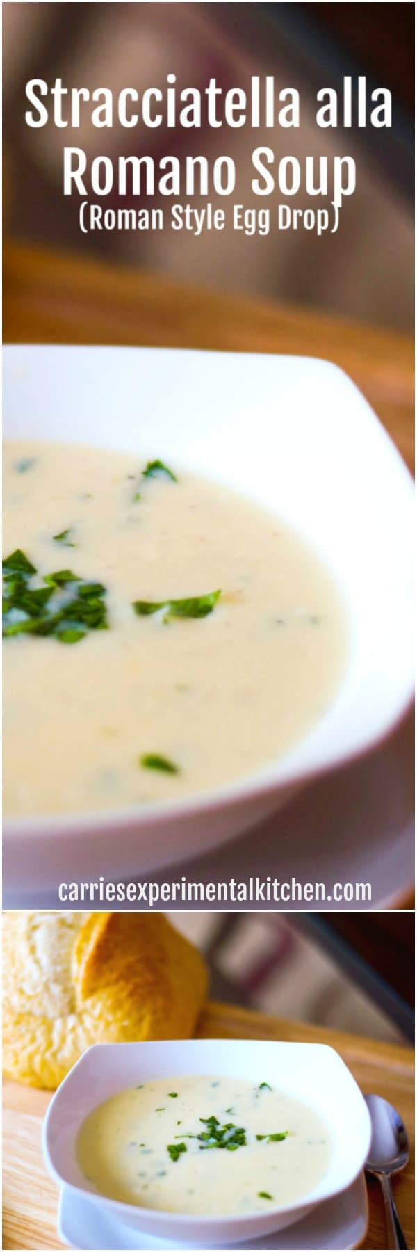 Stacciatella alla Romano or otherwise known as Roman Style Egg Drop Soup is an Italian soup consisting of a broth with a shredded eggs, cheese and spices.  #soup #easter #italian #italianfood
