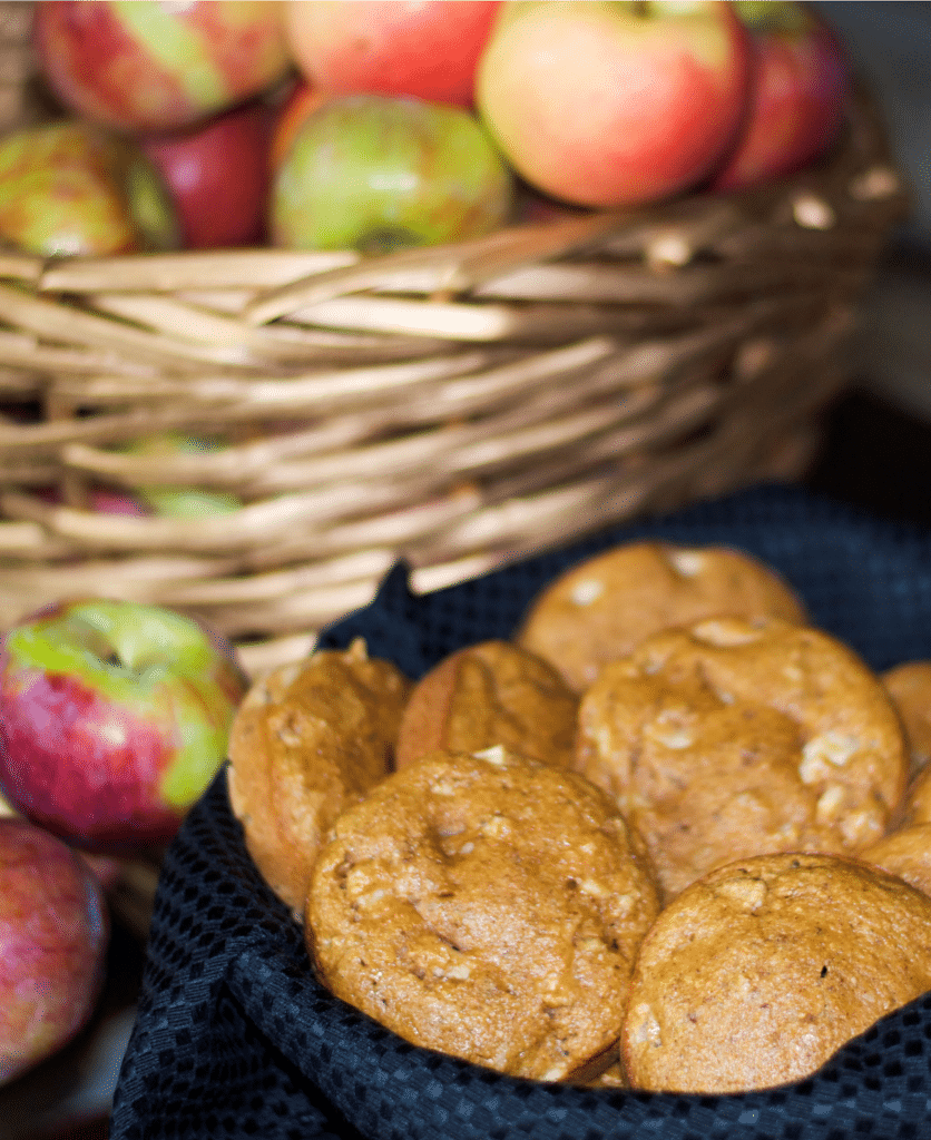 Whole Wheat Apple Walnut Muffin Tops | www.carriesexperimentalkitchen.com