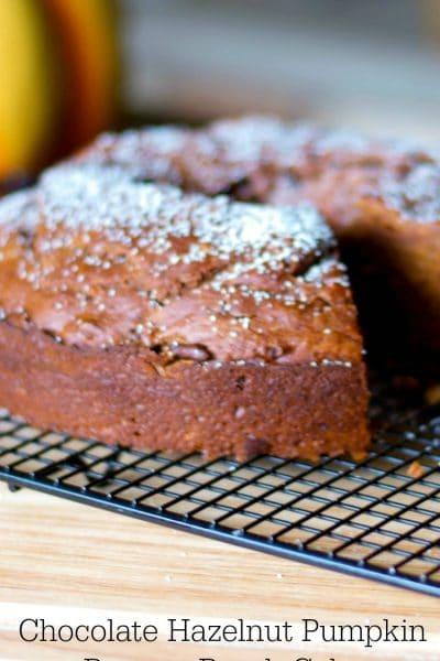 Chocolate Hazelnut Pumpkin Banana Bundt Cake
