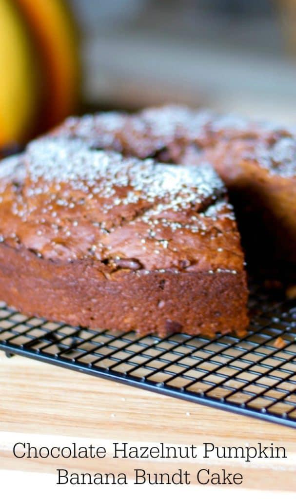 Chocolate Hazelnut Pumpkin Banana Bundt Cake-CEK