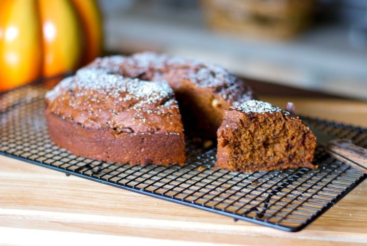 Chocolate Hazelnut Pumpkin Banana Bundt Cake