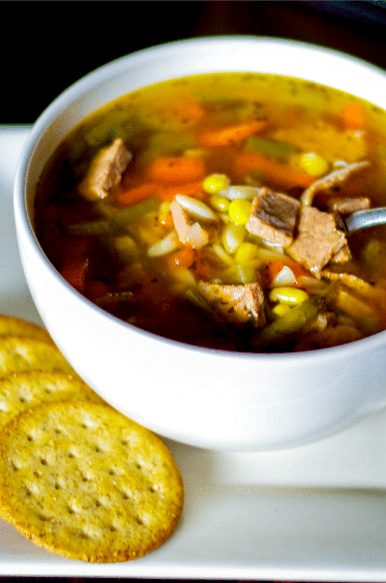 Italian Vegetable Beef Soup With Orzo Carrie S Experimental Kitchen