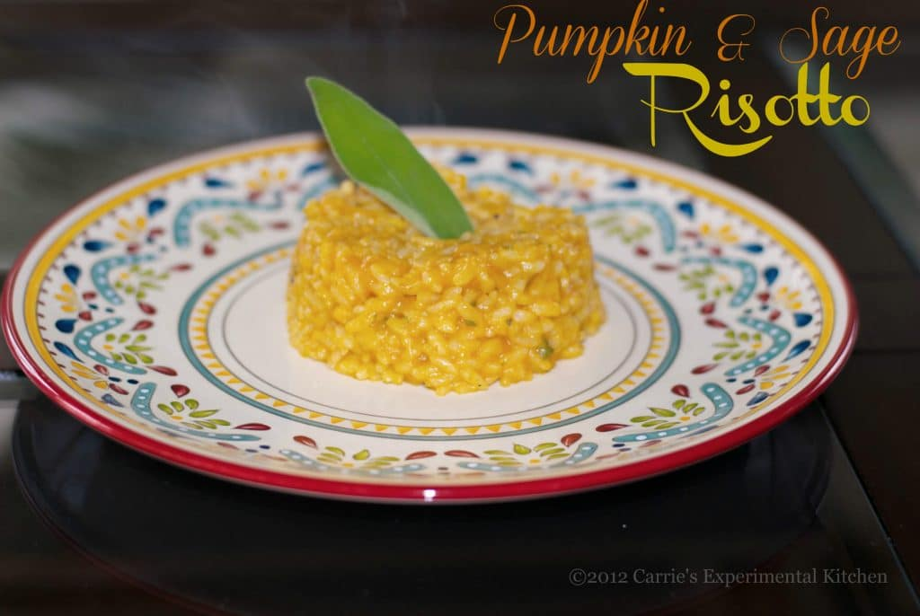 This Pumpkin & Sage Risotto is the quintessential fall dish with wonderful flavors and lucky for us, it also has less than 5 ingredients!