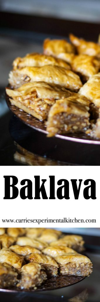 Baklava is a deliciously sweet pastry layered with phyllo dough, chopped nuts, then topped with syrup or honey. Try them for yourself!