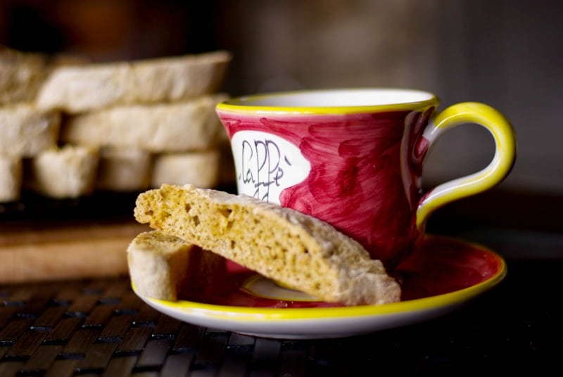 Cappuccino White Chocolate Biscotti