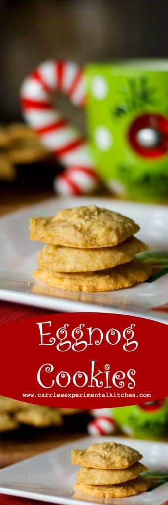 """Don't forget to leave a plate of cookies out on Christmas Eve. The """"big guy"""" looks forward to these soft and chewy Eggnog Cookies, made with creamy eggnog, cinnamon and nutmeg every year."""