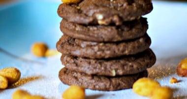 Honey Roasted Peanut Chocolate Cookies