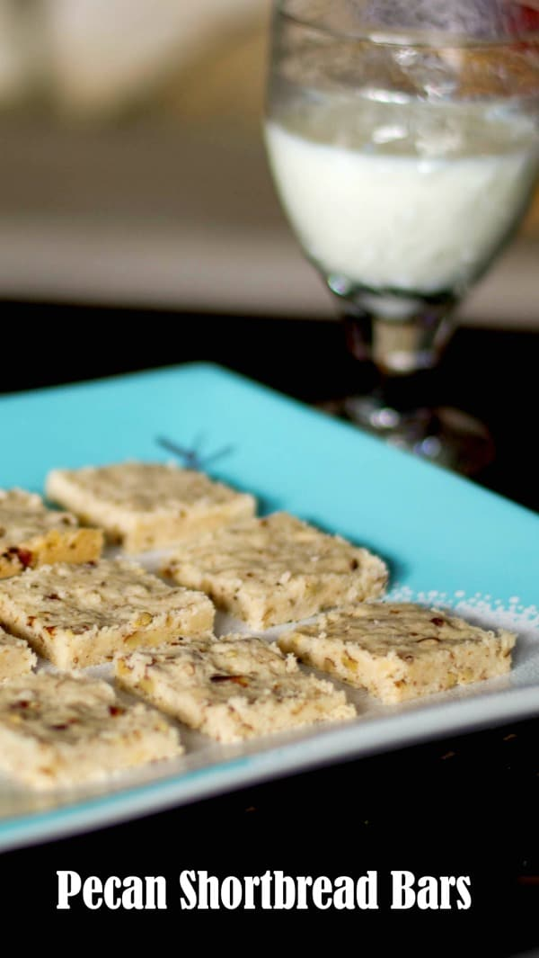 Pecan Shortbread Bars - Carrie's Experimental Kitchen