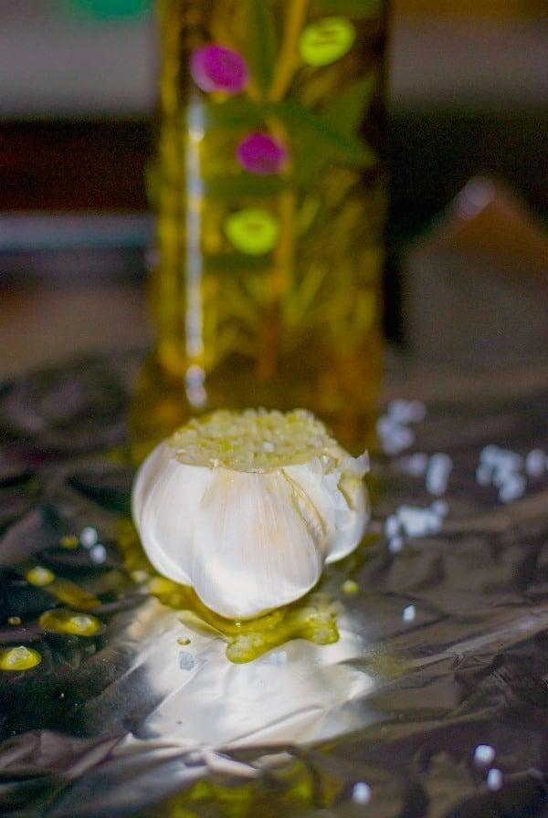 Roasted Garlic before