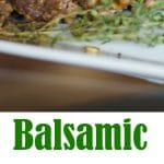 Super simple and delicious, this Homestyle Balsamic Meatloaf made with extra lean ground beef is a tasty weeknight dinner idea.