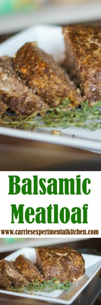 Super simple and delicious Balsamic Meatloaf made with extra lean ground beef is a tasty weeknight dinner idea.