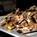 Entertaining guests last minute? Try making this quick and easy Blueberry Pistachio Chocolate Bark for dessert.