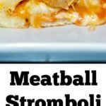 Meatball Stromboli made with your favorite Italian meatballs, sauce and pizza dough are perfect for Friday pizza nights or game day festivities.