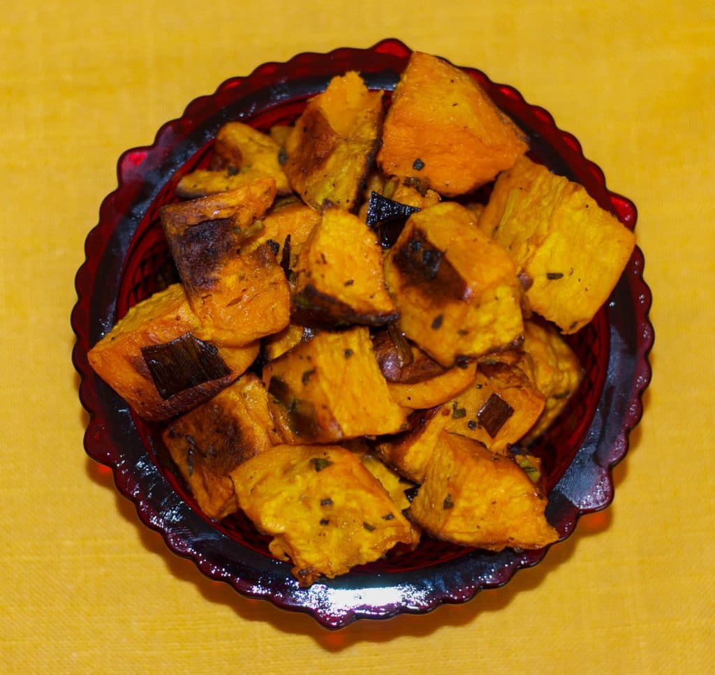 Roasted Sweet Potatoes, Potatoes, And Sage Recipe — Dishmaps