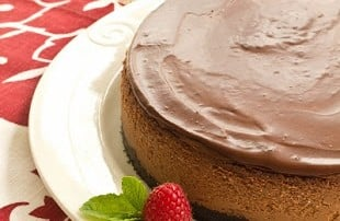 Triple Chocolate Cheesecake (Guest Post-That Skinny Chick Can Bake)