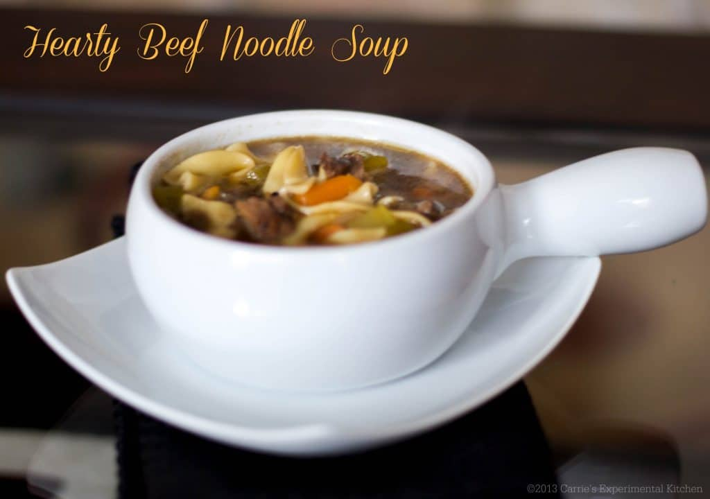 Hearty Beef Noodle Soup | Carrie's Experimental Kitchen #soup #beef