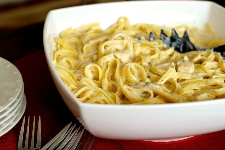 Low Fat Chicken Fettuccine Alfredo