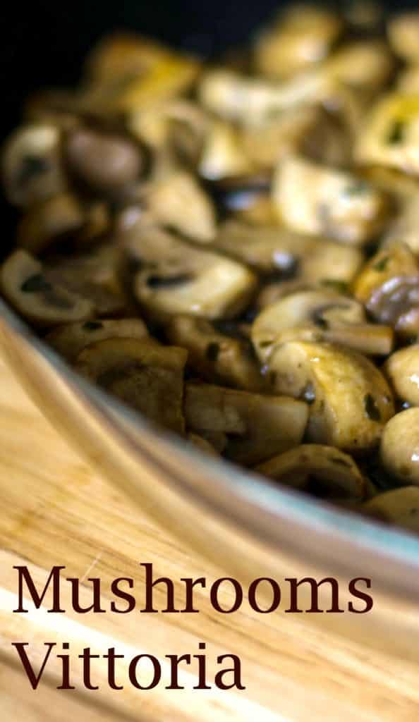 Mushrooms Vittoria | CarriesExperimentalKitchen.com Mushrooms Vittoria made with mushrooms, butter, garlic, parsley, white wine and beef broth go perfectly on top of grilled steak or chicken.