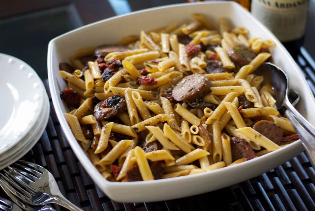 Pasta with Sausage and Sun Dried Tomatoes