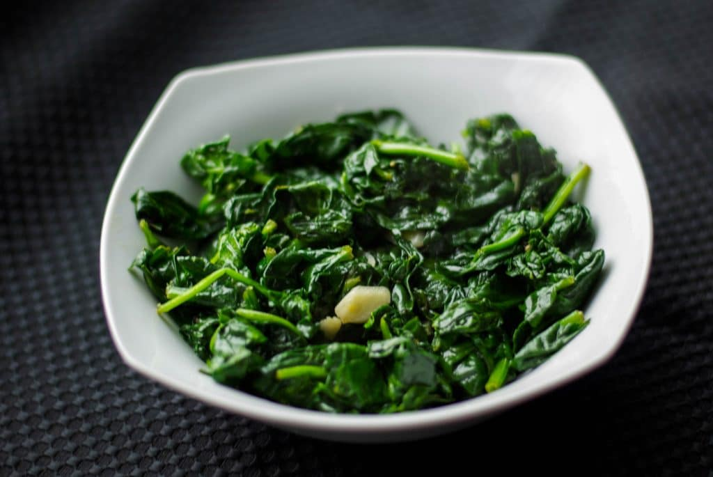Sautéed Fresh Spinach with Garlic