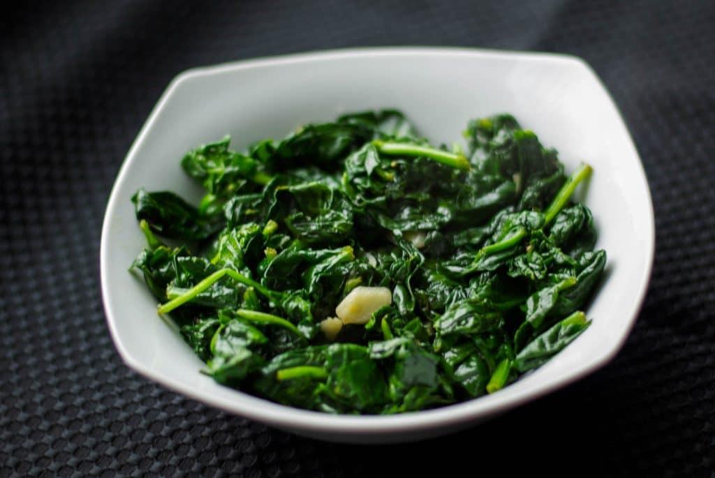 Sautéed Fresh Spinach with Garlic