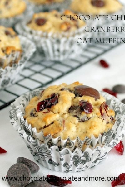 Chocolate Chip Cranberry Muffin-Chocolate Chocolate and more
